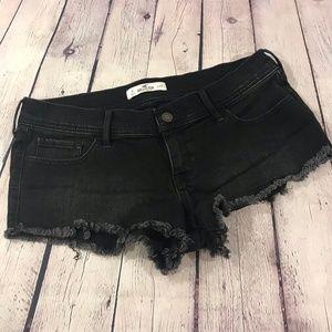 Hollister Denim Jean Shorts Black Cutoff Stretch 9